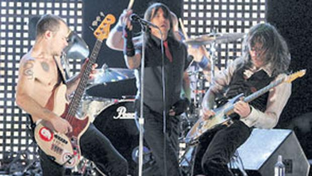 UNSTOPPABLE: in their fourth decade as a band, the Red Hot Chili Peppers have morphed into living legends