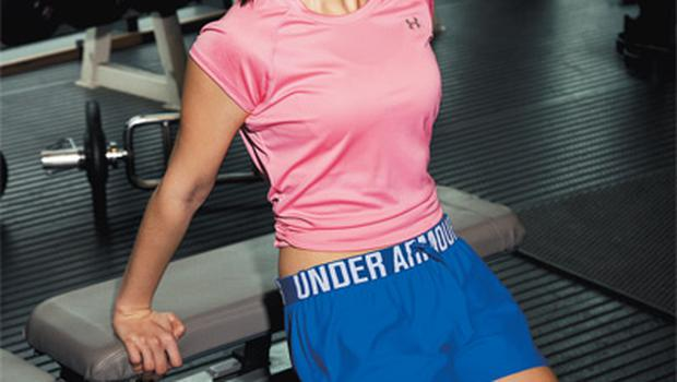 T-shirt, €28; shorts, €23, both Under Armour, Lifestyle Sports