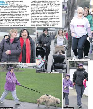Nuala Farrell and Noreen Scanlon bringing up the rear Roisín Flynn with her dog Orla Ruby and Lizzie Kilkenny and Conor and Sinéad Scanlon Margaret Byrne, leader Kilian Byrne and Ruth Donnelly Erinn and Johanna Doyle