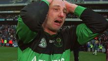Steven O'Brien of Nemo Rangers shows tears of joy after the team's victory over Crossmolina to capture the All-Ireland club SFC title in 2003.