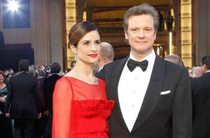 Colin Firth's wife Livia (left) wants him to do new 'Bridget Jones' movie