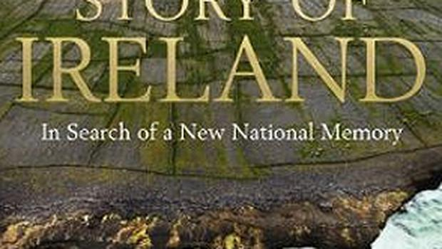 The cover of the accompanying book 'Story of Ireland'