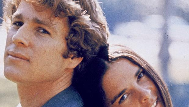 Ryan O'Neal and Ali MacGraw in 'Love Story'