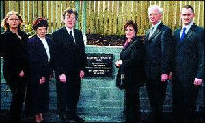 Pictured at the official opening of Ballymote Enterprise Park by Mr. John Perry T.D., were from left June Murphy, Sligo Leader Company, Mr. and Mrs. Perry, Noreen Cremin who was MC for the occasion, Michael Quigley and Chris Donnelly, Sligo Leader.l