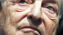 Soros Fund Management chairman, George Soros, at a session at the World Economic Forum (WEF) in Davos yesterday