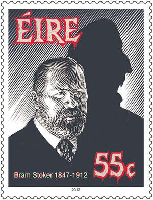 The two stamps commissioned by An Post to mark the centenary of the death of Dublin-born 'Dracula' author Bram Stoker.