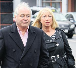 Dan McGrattan and Anne Doyle at the funeral of the late Mr McKenna