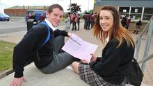 Mark Cunningham and Leah Reid from St Olivers Community College, Drogheda. Photo: Ciara Wilkinson