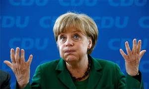 German leader Angela Merkel sent a clear message to new French leader Francois Hollande that the fiscal compact treaty can't be changed