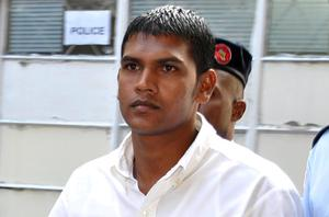 Avinash Treebhoowoon at the Supreme Court in Port Louis. Photo: PA