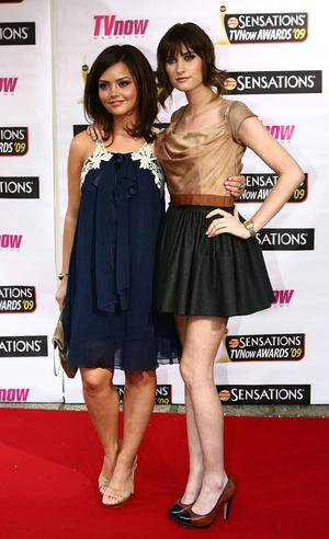 Jenna Louise Coleman and Charley Webb attend TV Now Awards at Mansion House on April 18, 2009 in Dublin, Ireland. Photo: Getty
