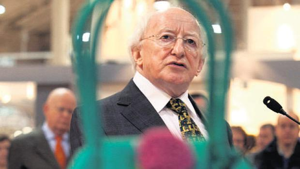President Michael D Higgins, who opened the expo yesterday