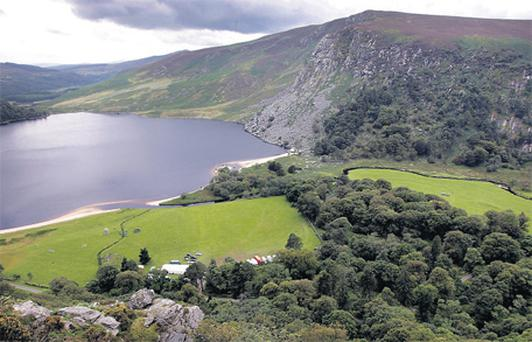 Luggala Valley in Co Wicklow