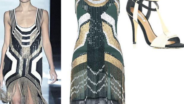 Dress, €134.50, and shoes, €80.50, both at River Island