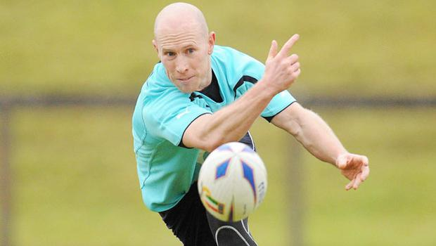 Ireland' s Peter Stringer in action during squad training. Photo: Sportsfile