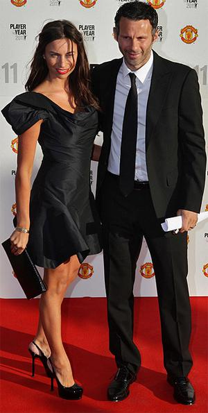Ryan Giggs arrives with his wife Stacey for Manchester United 2011 Player of the Year awards last Wednesday. Photo: PA
