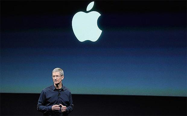 New Apple CEO Tim Cook introduces the new iPhone