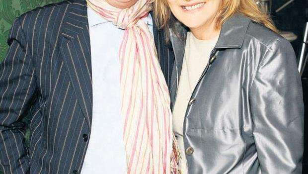Aengus Fanning with his wife Anne Harris
