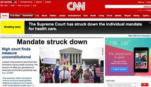 CNN initially reported that the individual mandate had been struck down