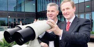 John Herlihy, left, head of Google Ireland, with Taoiseach Enda Kenny