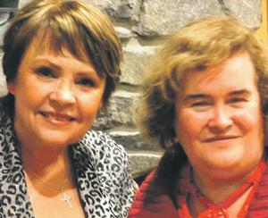 Dana met her friend Susan Boyle in Co Mayo yesterday – the 'Britain's Got Talent' singing star is a regular visitor to Knock