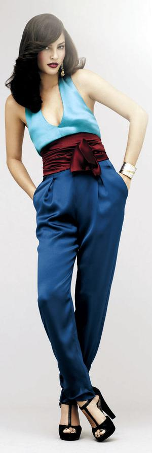 Jumpsuit, €109; belt, €35; earrings, €11, and bangle, €16, all M&S