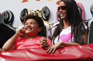 Katie Price, aka Jordan, pictured on a day out with son Harvey. Photo: Getty Images