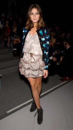 NEW YORK - SEPTEMBER 13:  Olivia Palermo during the Carlos Miele Spring 2011 fashion show during Mercedes-Benz Fashion Week at The Stage at Lincoln Center on September 13, 2010 in New York City.  (Photo by Gilbert Carrasquillo/FilmMagic)