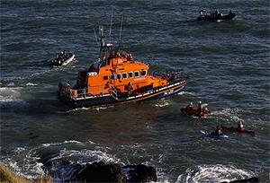 Coastguard, RNLI and volunteers in kayaks joined in the search