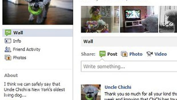 Words of support were left for Uncle Chichi's owners on the dog's Facebook page