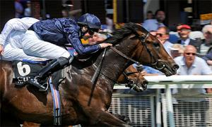 Lines of Battle, with Joseph O'Brien up, on their way to winning the Big Bad Bob European Breeders Fund (C & G) Maiden.