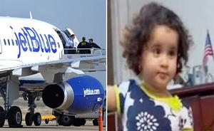 JetBlue blamed the mistake on a computer glitch after the girl (right) was removed from the flight after airline employees thought her name was on the U.S. no-fly list