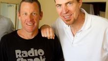 Jim Stynes pictured with Lance Armstrong. The cycling star paid tribute to the Dubliner following his death