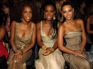 Beyonce and her bandmates Michelle Williams and Kelly Rowland