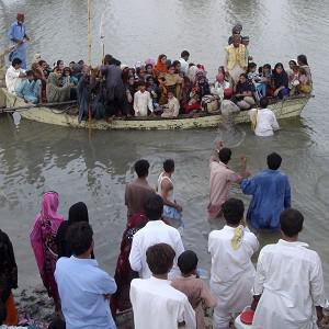 Millions of Pakistani flood victims are celebrating Islam's important festival of Eid ul-Fitr. (AP)