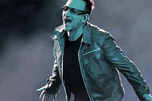 Bono on stage in La Plata, south of Buenos Aires, as part of their 360 World Tour earlier this month