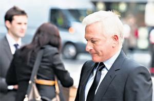Patrick McKillen arriving at the High Court in London yesterday