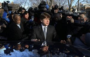 Rod Blagojevich departs his home in Chicago today.  Photo: AP