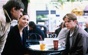 Minnie Driver on the set of Good Will Hunting