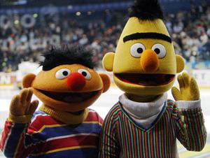 Sesame Street's Bert, right, and Ernie. Photo: Getty Images