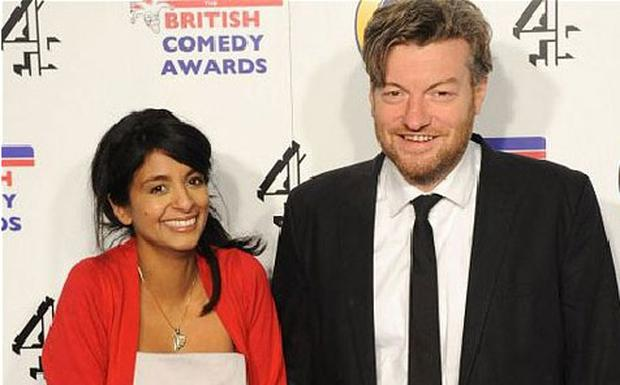 Konnie Huq and husband Charlie Brooker, pictured at the end of 2011. Photo: Getty Images