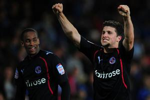 Shane Long scored twice in Reading's win over Cardiff. Photo: Getty Images