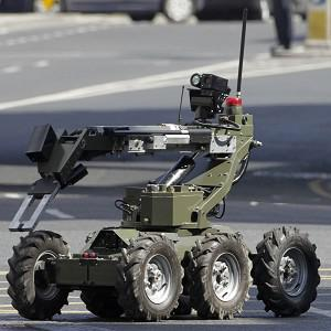 The army bomb disposal team is examining a device in Donegal