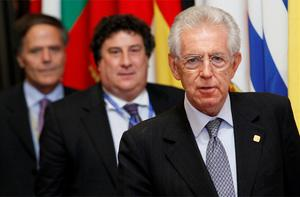 Italy's Prime Minister Mario Monti leaves the summit. Photo: Reuters