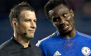 Under investigation: Chelsea have complained about referee Mark Clattenburg (left).  Photo: Getty Images
