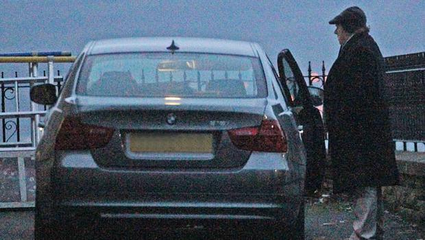 THE CAT IN THE HAT: Van Morrison leaves the Culloden Hotel last night after doing his sound check. It's his first live show in over four years