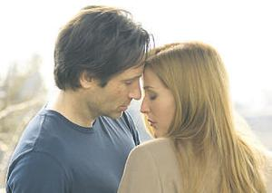 GOOD CHEMISTRY: David Duchovny and Gillian Anderson reprise their roles as spook-busting spooks Mulder and Scully