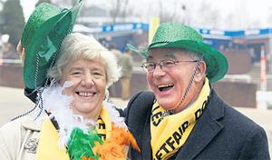 Ann and Paddy Smith from Drogheda, Co Louth, take in the action
