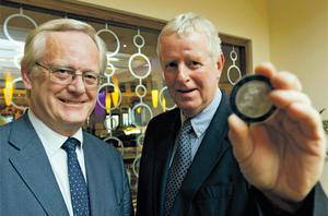 IMCA president Tony O'Brien, left, and Glanbia group managing director John Moloney holding the Annual Medal