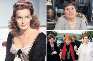 Maureen O'Hara, left, in her heyday. Top: her former PA Carolyn Murphy and, with Carolyn Murphy and her daughter Bronwyn